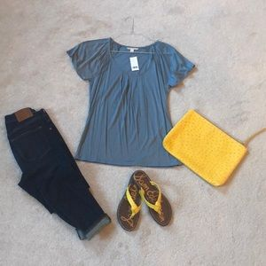 NWT Banana Republic Pleated Front Top